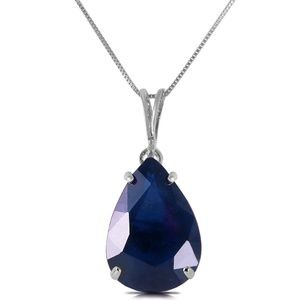 14K. SOLID GOLD NECKLACE WITH NATURAL SAPPHIRE